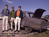 JL, Craig, Ed, & Ed's car, April 1969