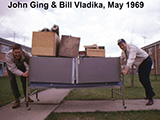 John & Bill moving day at RAF Wethersfield, May 1969