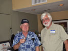 Chuck Schabel and Steve Linebarger at the reception
