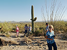Marilyn, Chuck, Craig & Jeanne checking out the sagauro cactus