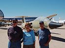 Jim & Marie Jenkins with Bill Woodward in front of F-104