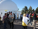 The group arrives at the observatory housing the 32-inch Schulman telescope we will be viewing