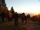 The group gathers for sunset on Mt. Lemmon