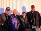 Bob Roberts, Linda Ging, Jan Baker and John Ging catch the last rays of the day