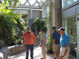 Checking out the tropical conservatory: Steve Bisel, Bill Woodward, Jerry Smith and Bob Fitzgerald