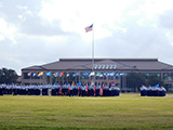 Formation of the graduating airmen
