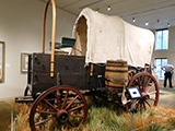Covered wagon exhibit at the museum