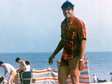Steve Bisel at the beach at either either Clacton-on-Sea or West Mersea.