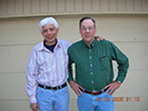 Tom Buczek (L) and Paul Baker (R) in May of 2005, 38 years after being roomies. Submitted by Paul Baker