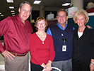 Paul and Jan Baker (L) with Gary Palmer and wife Ginger in September 2006. Submitted by Paul Baker