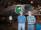 Jim Jenkins and Steve Linebarger in Hangar 1 at Lowry AFB, November 2007. Submitted by Steve Linebarger