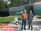 "Steve Linebarger and Alan ""Roy"" Thomas at Eielson Air Force Base near Fairbanks, Alaska, July 2013."