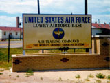 Lowry AFB Air Training Command Entrance Sign, 1966.