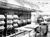 Kitchen at Lowry AFB, 1967.