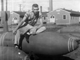 Don Hicks at Munitions School at Lowry AFB, 1958.
