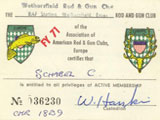 Rod & Gun Club Membership Card. Submitted by Chuck Schabel